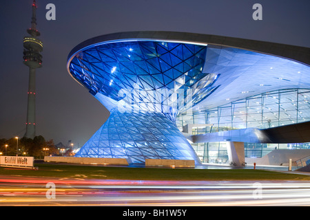 BMW Welt. Designed by architect Wolfgang Prix, Coop Himmelb(l)au, a multi-functional customer experience and exhibition - Stock Photo