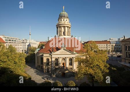 French Church, Franzoesischer Dom, Gendarmenmarkt, Berlin, Germany - Stock Photo