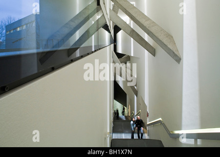The Axis of Continuity leads to the Sackler Staircase, Jewish Museum, architect Daniel Libeskind, Berlin - Stock Photo