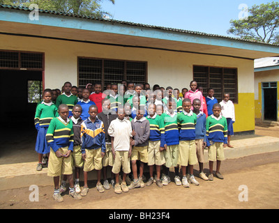 African school children Kilema Moshi Tanzanian East Africa