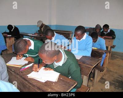 African school children working Kilema Moshi Tanzania East Africa