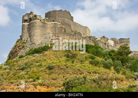 Qalaat Marqab Crusader Castle in Syria - Stock Photo
