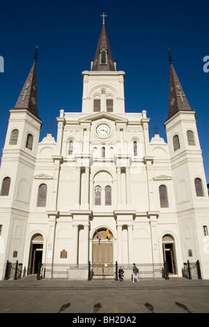 St Louis Cathedral, Jackson Square, New Orleans, Louisiana - Stock Photo
