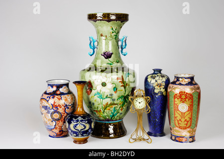 A Group Of Antique Vases Including A Huge French Vase By Theodore