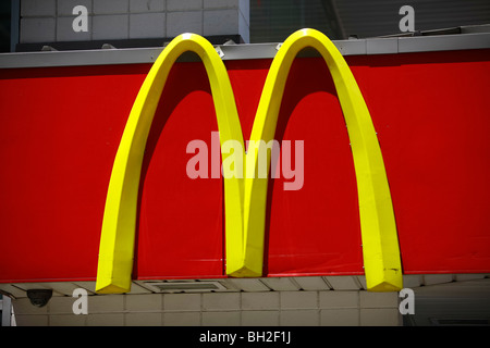 McDonald's is the world's largest chain of hamburger fast food restaurants - Stock Photo