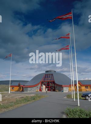 Polar Circle Tourist Centre, Saltfjell, Nordland, arctic Norway. - Stock Photo