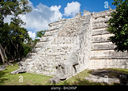 The Ossuary or Tomb Of The Great Priest, Chichen Itza Archaeological Site Yucatan Mexico. - Stock Photo