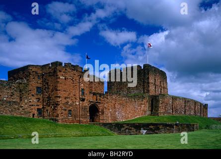 A view of the entrance to Carlisle Castle, Carlisle, Cumbria - Stock Photo