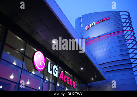 The LG Arena is the trading name of The National Exhibition Centre. Birmingham, England - Stock Photo