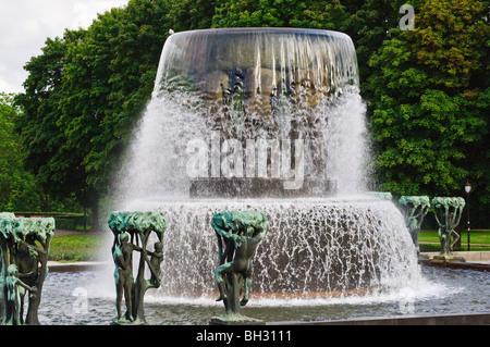 Sculpture in Vigelandsparken, Oslo, Norway - Stock Photo