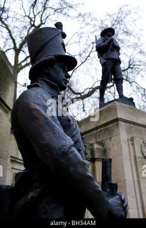 The Rifles Brigade 1914-1918 war memorial in London - Stock Photo