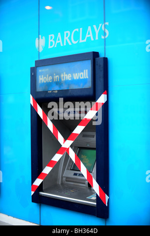 An out of order barclays cash point machine - Stock Photo