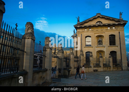 Sheldonian Theatre grounds and Clarendon building Broad st Oxford England UK Europe - Stock Photo