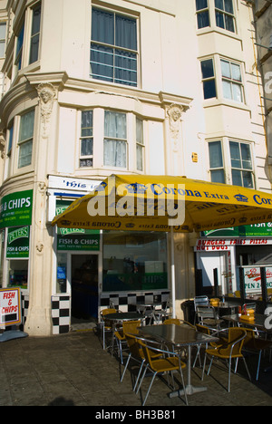 Fish and Chip shop exterior Brighton England UK Europe - Stock Photo