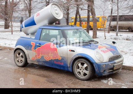 Car used in advertising campaign. - Stock Photo