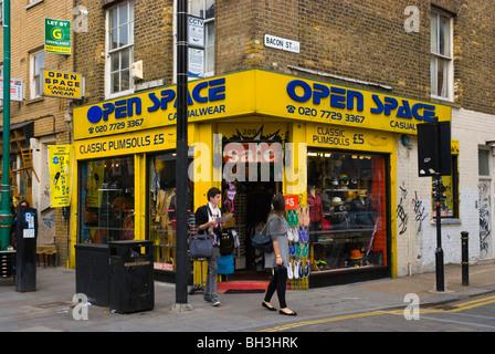 Corner of Brick Lane and Bacon Street Shoreditch East End London England UK Europe