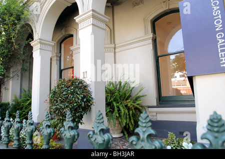 terraced house art gallery brunswick street fitzroy melbourne victoria australia - Stock Photo