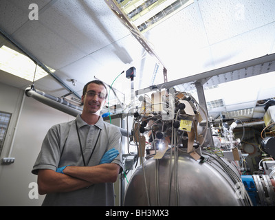 Fusion Reactor Scientist At Work - Stock Photo