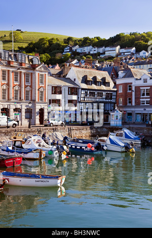 England Devon Dartmouth Quay and South Embankment - Stock Photo
