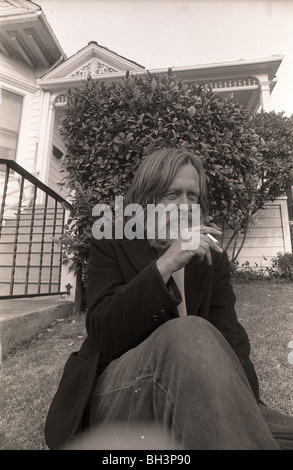 1960s musician Skip Spence outside a halfway house on the streets of San Jose, California. Moby Grape Jefferson - Stock Photo