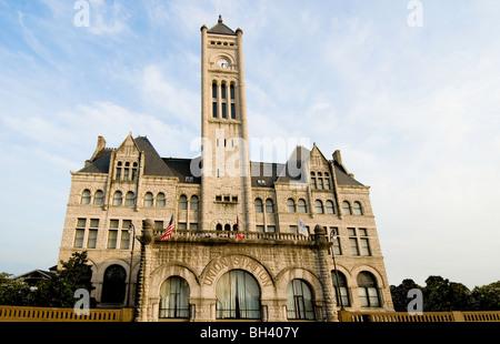 Union Station Nashville, now a Wyndham Historic Hotel, in Nashville, Tennessee - Stock Photo