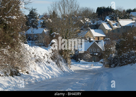 Taken from the Fawler Road looking towards Laughton's Hill in Stonesfield. - Stock Photo