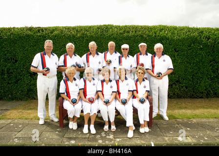 bowls team shot - Stock Photo