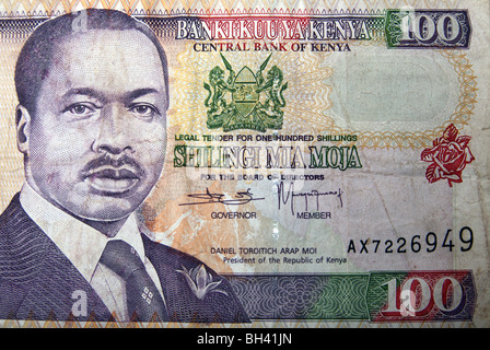 Kenya shilling currency note - Stock Photo