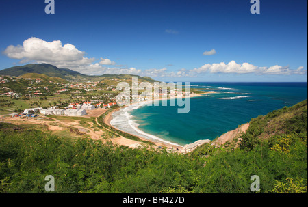 Seascape and beach, St Kitts, West Indies, Caribbean - Stock Photo