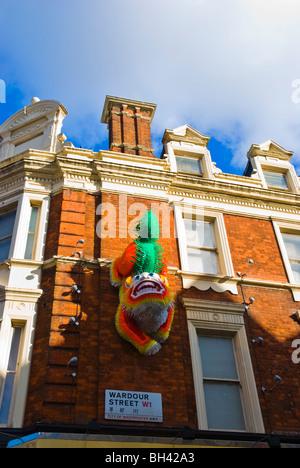 Wardour Street Chinatown central London England UK Europe - Stock Photo