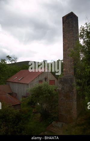 Historic 19th century wood working mill at Finzean. - Stock Photo