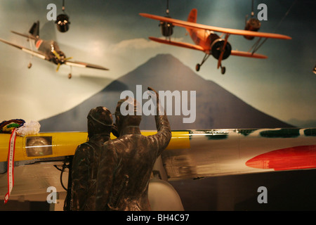 display at the Special Attack Peace Memorial Museum, in Chiran, Kyushu Island, Southern Japan - Stock Photo