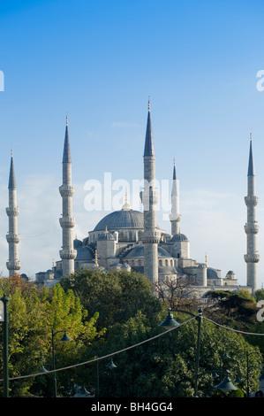 The Blue Mosque, Sultan Ahmet Camii, Istanbul, Turkey - Stock Photo