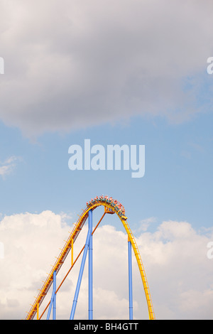Detail of rollercoaster - Stock Photo