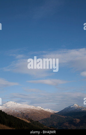 The Arrochar Alps,Beinn Donich and Bein Brack with Loch Goil in the distance from Beinn Bhula - Stock Photo