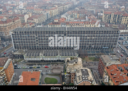 Palazzo Nuovo, College of Law Letters and Philosophy, Turin University, Italy - Stock Photo