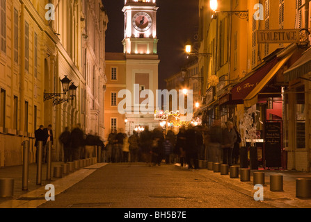 2009 - 2010 christmas decorations in Nice, Provence, France - Stock Photo
