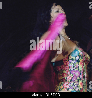 Mexican diva LILA DOWNS playing at the Union Chapel, London,UK - Stock Photo