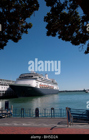 Ferryboat docked at princes wharf auckland , New Zealand - Stock Photo