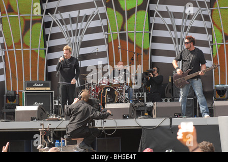 South African rock band Prime Circle sings at the 46664 Concert in Johannesburg, South Africa. Photo: Eva-Lotta - Stock Photo