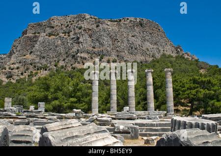 Priene Ruins Izmir Turkey - Stock Photo