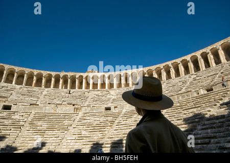 Aspendos Antique Theater in Antalya Turkey - Stock Photo
