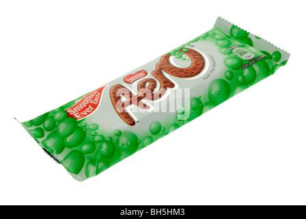 Nestle Mint Aero Chocolate Bar - Stock Photo