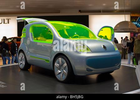 Paris, France, Paris Auto Show, Electric Motor Concept Car, Renault ZE - Stock Photo