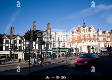 Intersection , Clapham Common , London - Stock Photo