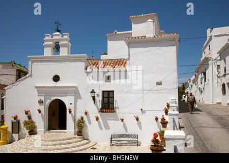 Iglesia de los Remedios Pueblo Blanco de Mijas Costa del Sol Málaga Andalucía España Los Remedios church white village - Stock Photo