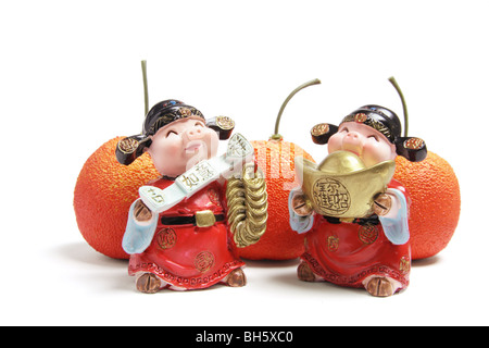 God of Wealth Figurines - Stock Photo