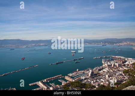 Viewpoint over Gibraltar, UK - Stock Photo