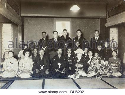 wedding celebration Japan early 1930s - Stock Photo