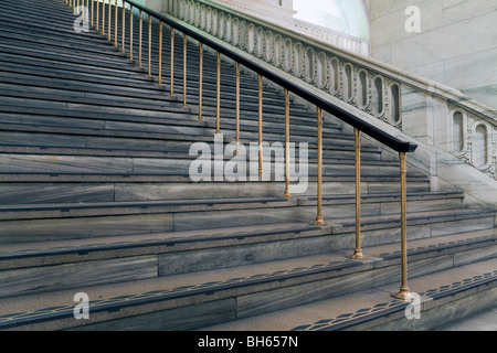 USA, New York City, Manhattan, New York Public Library - staircase